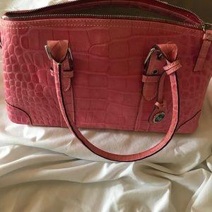 Pink Alligator Handbag